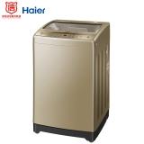 海尔(Haier)波轮洗衣机全自动 玻璃上盖 智能称重量衣进水 9公斤大容量 全新升级内桶 EB90BZ059