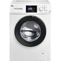TCL 9公斤 变频全自动滚筒洗衣机 16种洗涤程序 中途添衣 高温除菌除螨 羽绒服洗(芭蕾白)XQG90-P300B
