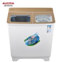 澳柯玛(AUCMA)9.2公斤大容量半自动双缸波轮洗衣机 双不锈钢内桶 宿舍租房家用洗涤脱水甩干机 XPB92-2160s