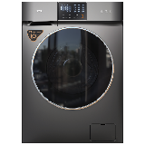 TCL 10公斤直驱全自动变频滚筒洗衣机 整机保修三年 呵护母婴1.08洗净比(星曜灰)G100V200-D