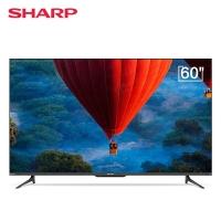 夏普(SHARP)60D6UA 60英寸4K高清语音全面屏智能超薄平板液晶电视机