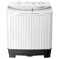 荣事达(Royalstar)  洗衣机  8公斤家用半自动双桶双筒双缸洗衣机 强劲动力 洗脱分离 白色 XPB80-936PHR