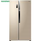 容声(Ronshen) 529升 对开门冰箱 矢量双变频 纤薄机身 风冷无霜 节能静音 沐光金 BCD-529WD11HP