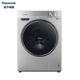 松下(Panasonic)滚筒洗衣机全自动变频10公斤大容量 光动银除菌 免熨烫 大视窗机门XQG100-E1558银色