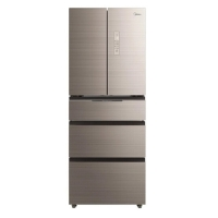 美的(Midea)405升家用风冷无霜智能对开门变频冰箱除味BCD-405WTGPM 凌波金