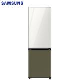 三星(SAMSUNG)333升 BESPOKE DIY自由组合冰箱 玻璃面板 风冷 智能变频 RB33R300452/SC(光晕白+橄榄绿)