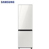 三星(SAMSUNG)333升 BESPOKE DIY自由组合冰箱 玻璃面板 风冷 智能变频 RB33R300435/SC(光晕白)