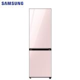 三星(SAMSUNG)333升 BESPOKE DIY自由组合冰箱 玻璃面板 风冷 智能变频 RB33R300432/SC(光晕粉)