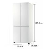 松下(Panasonic)NR-E49CG1-XW 498升十字对开门变频风冷无霜冰箱玻璃面板大容量(2)