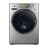 松下(Panasonic)滚筒洗衣机全自动10公斤 洗烘一体机 智能烘干 除螨除菌 XQG100-EG13T