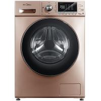 美的(Midea)滚筒洗衣机全自动 FCS快净 溶漩风科技 47cm纤薄机身 8公斤变频 MG80V76DQCJ5