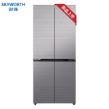 创维(SKYWORTH)419升冰箱双开门 十字多门 变频节能静音 风冷无霜 彩晶玻璃面板 BCD-419WXGP