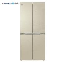 格力(GREE) 晶弘458升变频风冷无霜十字对开纤薄电冰箱 玻璃面板 嵌入式 离子抗菌净味 BCD-458WPQG2/朗玉金