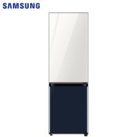 三星(SAMSUNG)333升 BESPOKE DIY自由组合冰箱 玻璃面板 风冷 智能变频 RB33R300429/SC(光晕白+海军蓝)