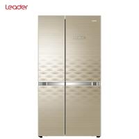 统帅(Leader) 海尔出品 528升变频风冷无霜对开门冰箱 90度开门玻璃面板 BCD-528WLDCD