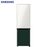 三星(SAMSUNG)333升 BESPOKE DIY自由组合冰箱 玻璃面板 风冷 智能变频 RB33R300451/SC(光晕白+松柏绿)
