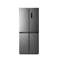 格力(GREE)晶弘412升变频风冷十字对开门纤薄电冰箱 深冻锁鲜 家用 离子抗菌净味 BCD-412WPQCL/深空银