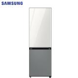 三星(SAMSUNG)333升 BESPOKE DIY自由组合冰箱 玻璃面板 风冷 智能变频 RB33R300459/SC(光晕白+银河灰)