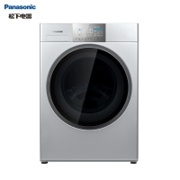 松下(Panasonic)洗衣机全自动10公斤 洗烘一体机 光动银常温除菌不伤衣 全新EG系列 XQG100-EG1V8银色