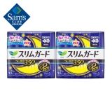 乐而雅 日本进口 零触感超丝薄超长夜用卫生巾 13片*2包