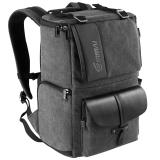 锐玛(EIRMAI)EMB-SD06 单反包相机包双肩摄影包数码帆布防水旅行背包 d90 3100d 炭灰色