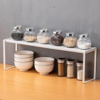 欧润哲 厨房置物架 可伸缩橱柜收纳架水槽架 桌面储物架收纳架调料架 34/60*12*18cm 小号