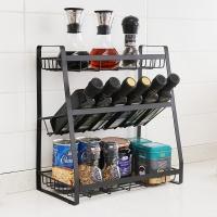 欧润哲 厨房置物架 厨房收纳架油瓶调味架调料架 免打孔家用桌面架子 三层