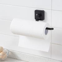 欧润哲 纸巾架 免打孔吸盘式挂壁直杆厨房置物架 浴室厨房纸卷纸纸巾架保鲜膜架